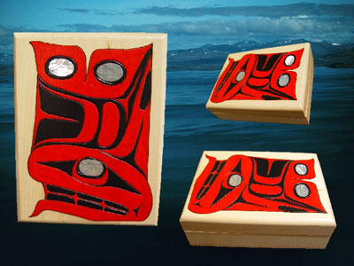pacific northwest whale art box