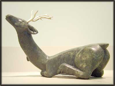 image inuit art culture caribou sculpture