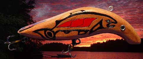 image northwest native american indian carvings fishing lure