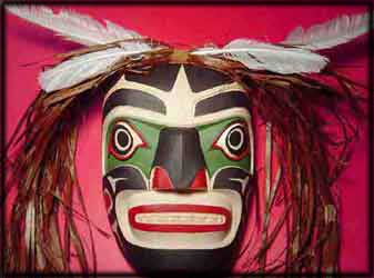 canadian first nations art northwest coast wild man mask