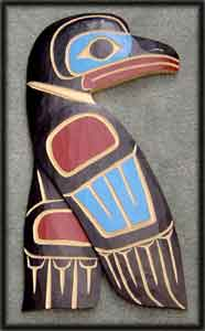 image pacific northwestern native american artwork eagle bird carvings