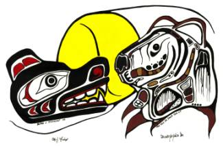pacific northwest native american art prints woodlands