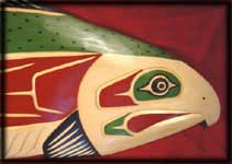 image northwest indian art indian carving salmon