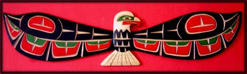 northwest coast indian art eagle carving
