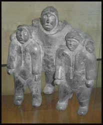 image inuit families art carvings family