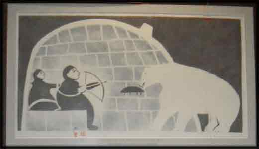 image inuit art drawings paintings prints man bear
