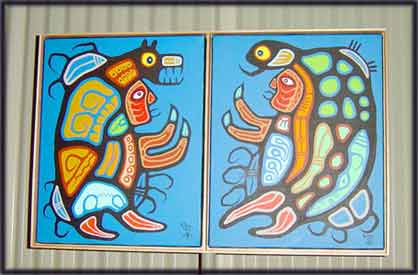 image Woodland Art of Woodlands Native Indian Artists Norval Morrisseau